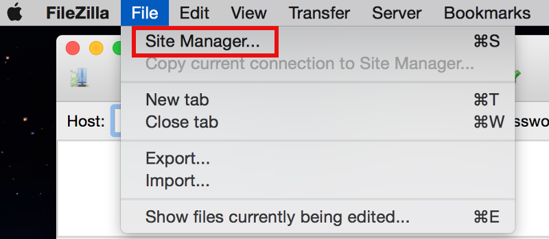 Filezilla-File-Site-Manager