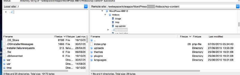 Filezilla-Root-WP-Folder