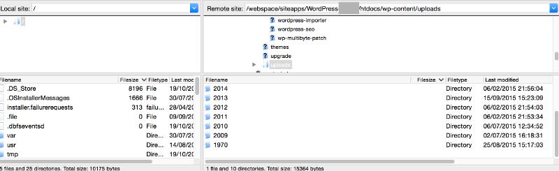 Wordpress-Uploads