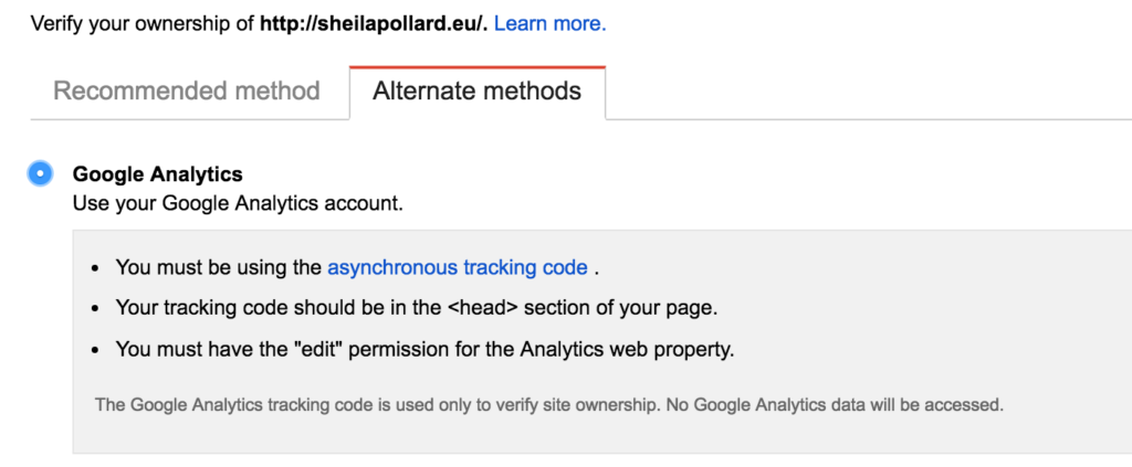 Google Analytics Method