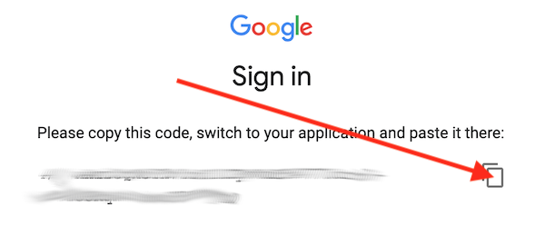 Google Sign In Code
