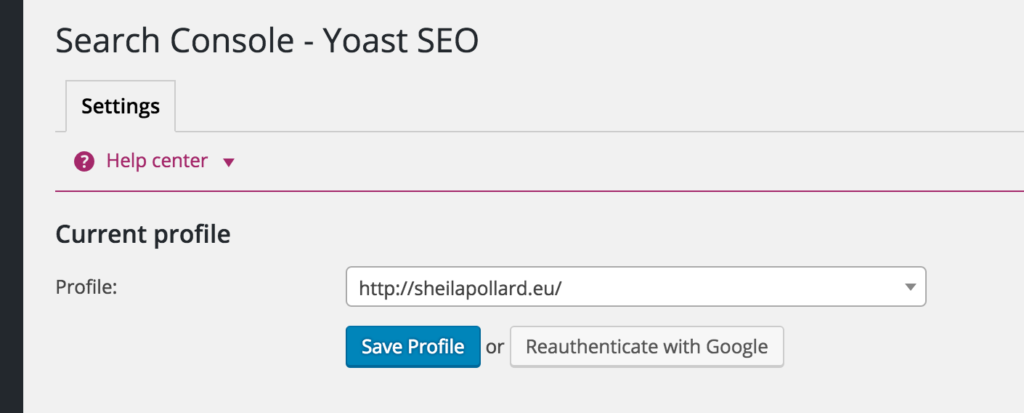 Yoast - Profile added