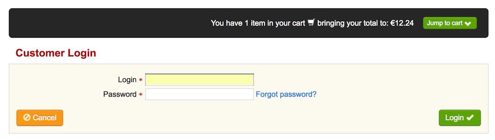blacknight customer login screen