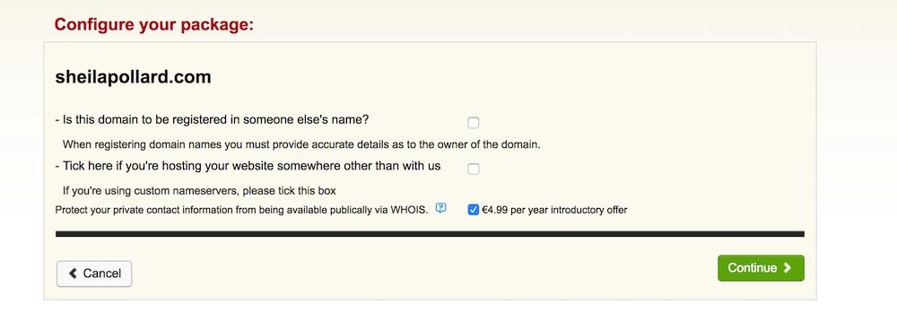 configure your domain
