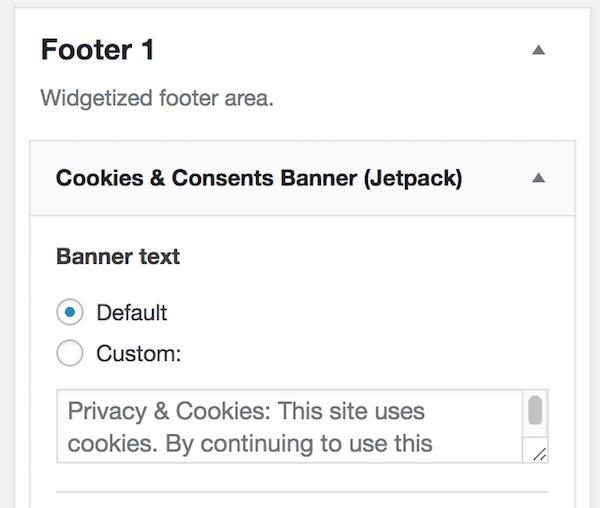 Default cookie banner text
