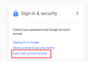Google Sign In Security