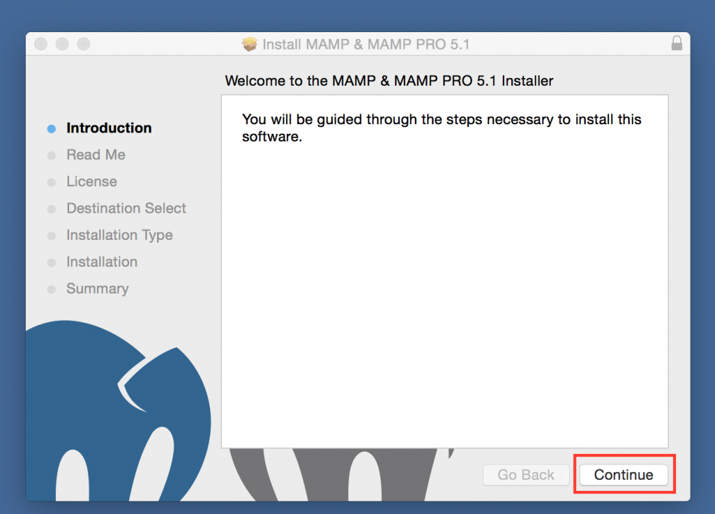 MAMP Installer Introduction