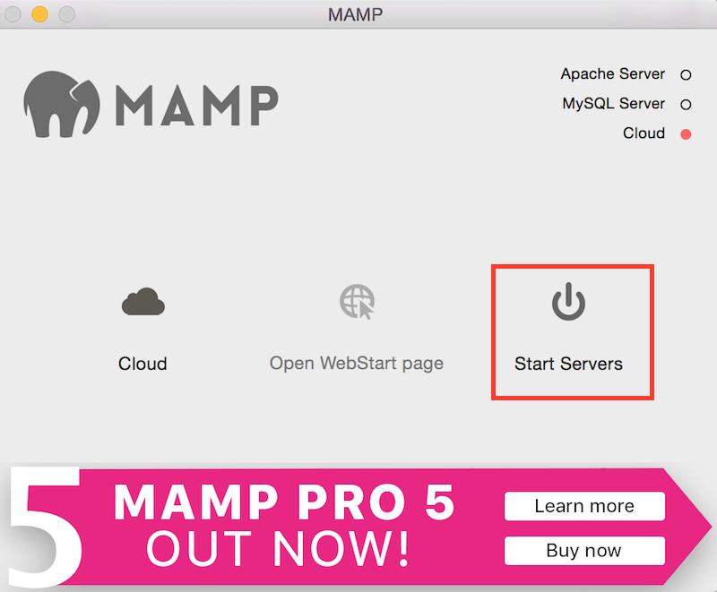 MAMP Start Web Server