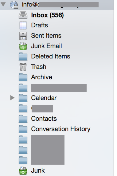 Thunderbird Folders List