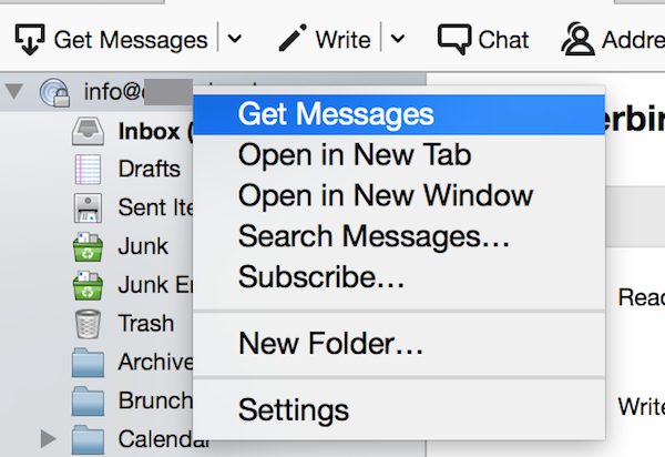 Thunderbird Get Messages