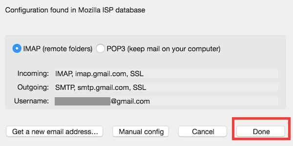 Thunderbird Gmail Config Settings