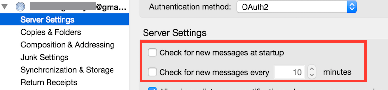 Thunderbird Gmail Server Settings