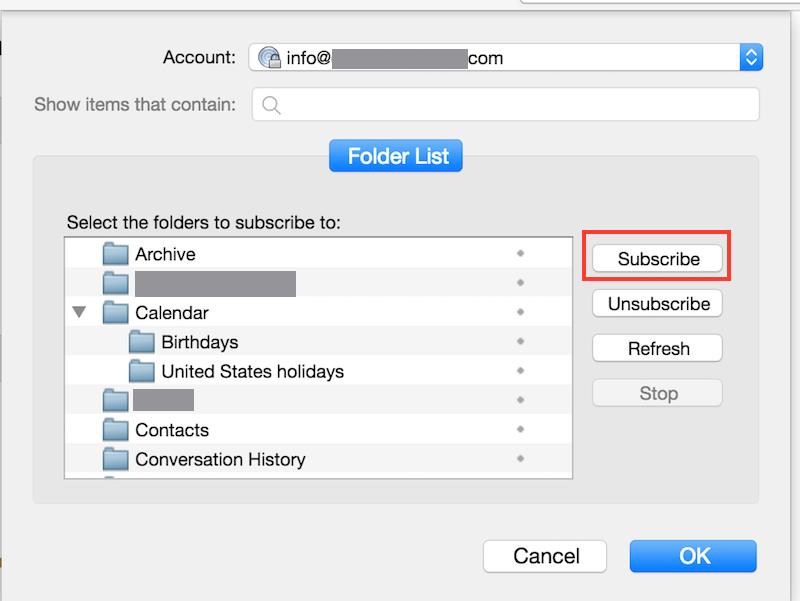 Thunderbird Manage Folder Subscriptions