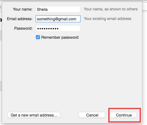 Thunderbird add Gmail account