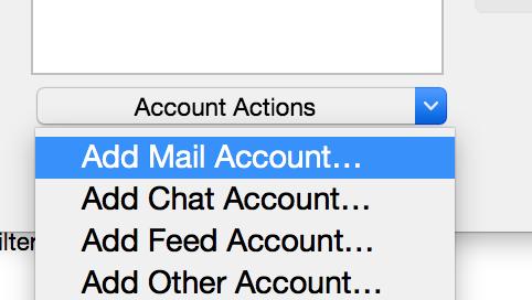 Thunderbird add Mail account