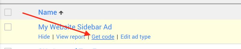 Google Adsense Ad Unit Get Code