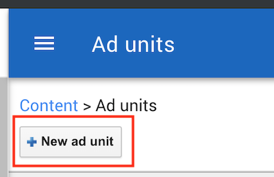 Google Adsense New Ad Unit