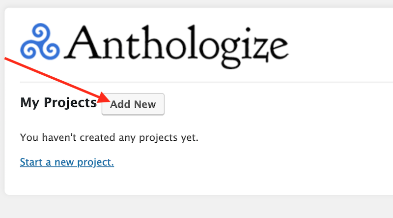 Anthologize Projects