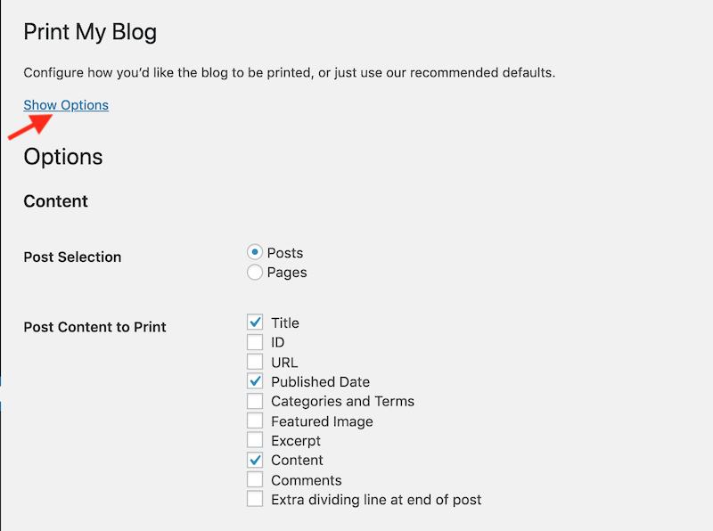 Print My Blog Options 1