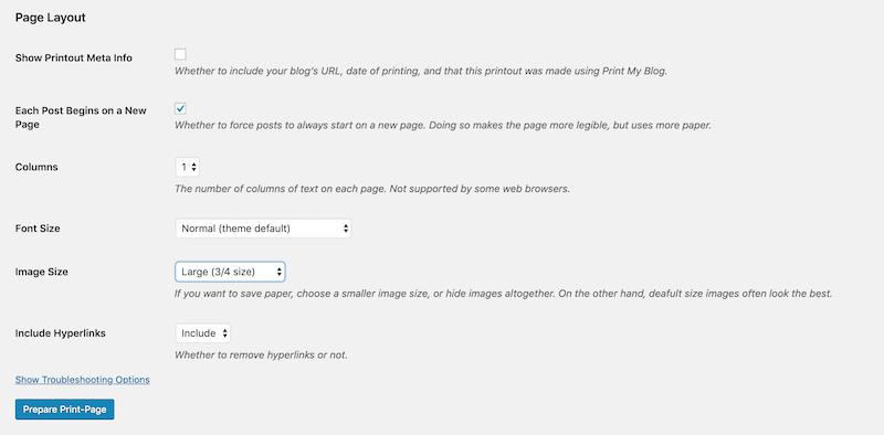 Print My Blog Options 2