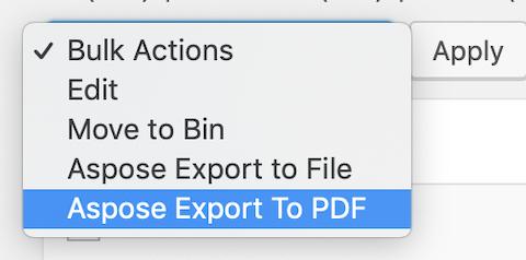 Wordpress Aspose Bulk Action